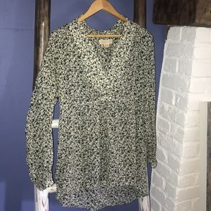 Stunning Michael Kors baby doll tunic top blouse